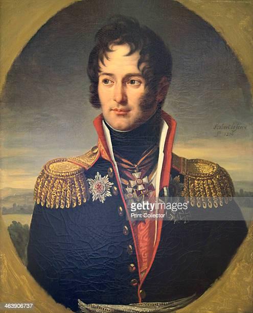 'Portrait of General Pyotr Chicherin', 1814. Pyotr Aleksandrovich Chicherin commanded a regiment of dragoon's during the campaign against Napoleon's...