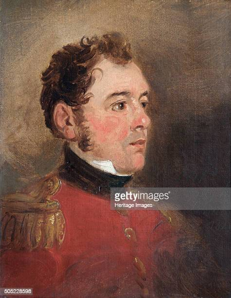 Portrait of General Sir James Shaw Kennedy British soldier 1821 In 1815 at the Battle of Waterloo Captain Kennedy served on the staff of Alten's 3rd...