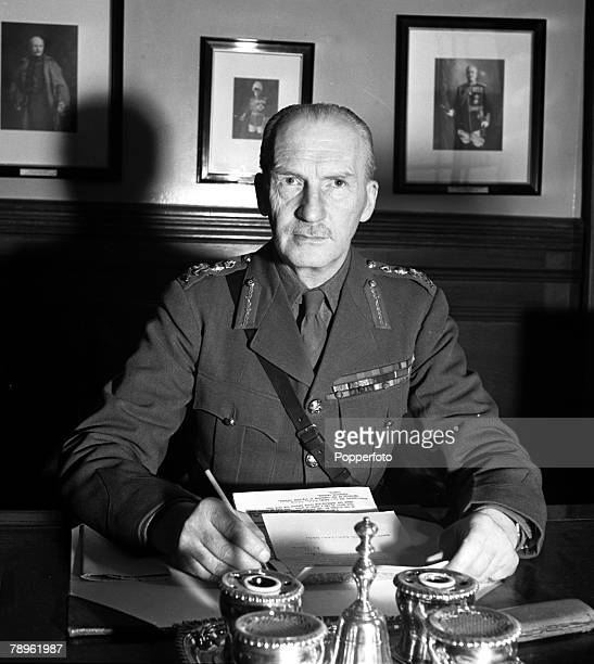 World War II England Circa 1940's A portrait of General Sir John Greet Dill the Chief of the Imperial General Staff
