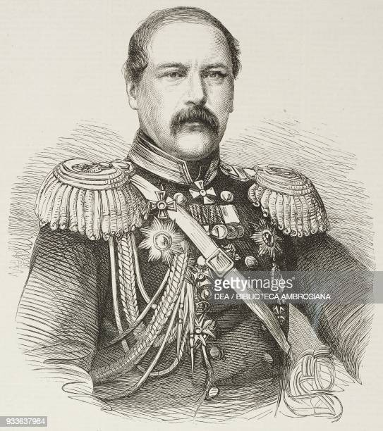 Portrait of General Tobleden Russian Military engineer illustration from the magazine The Illustrated London News volume XLV December 10 1864