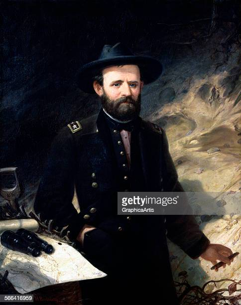 Portrait of General Ulysses S Grant by Ole Peter Hansen Balling oil on canvas 1865 From the National Portrait Gallery Washington DC