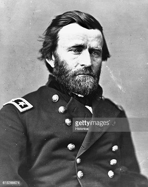 Portrait of General Ulysses S. Grant , leader of the Union army in the Civil War and later US President.