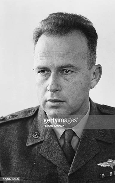 Portrait of General Yitzhak Rabin wearing military uniform, prior to becoming the Israeli Prime Minister, circa 1967.