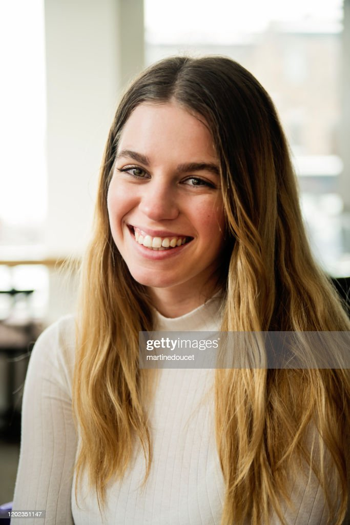 Portrait of Generation Z young woman. : Stock Photo
