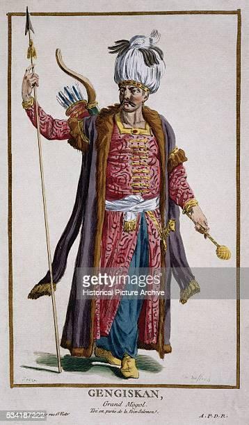 Portrait of Gengis Khan by Pierre Duflos