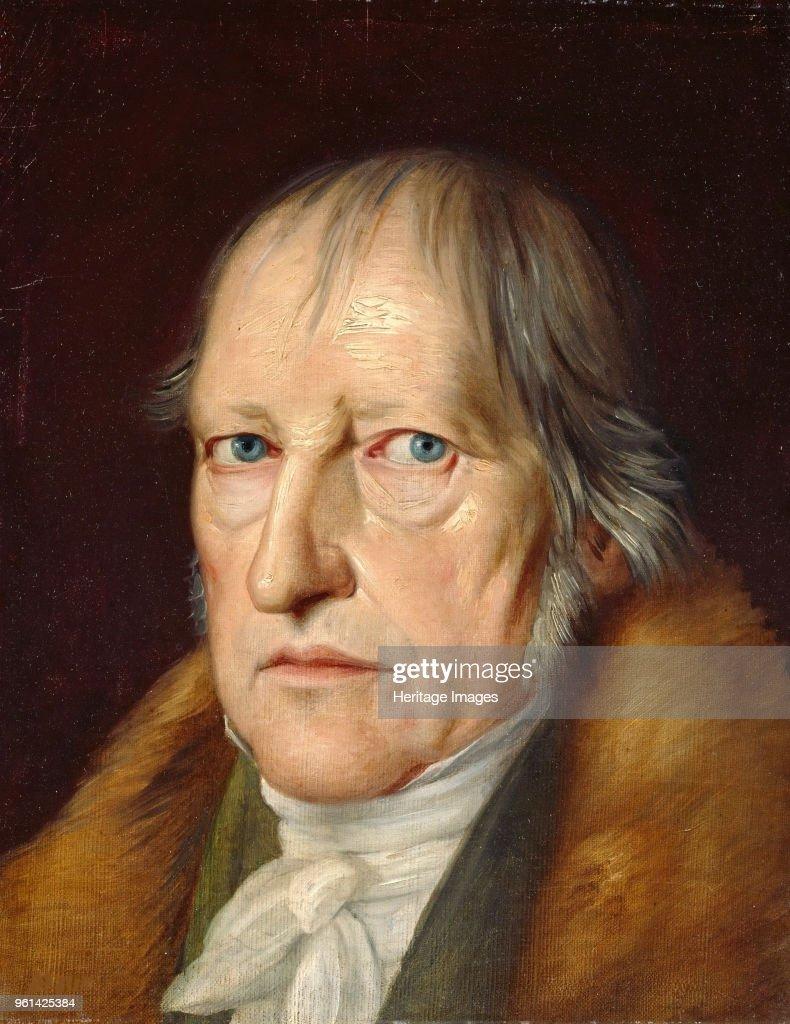 Portrait Of Georg Wilhelm Friedrich Hegel 1770-1831 : News Photo