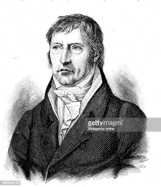 Portrait of Georg Wilhelm Friedrich Hegel 27 August 1770 14 November 1831 was a German philosopher digital improved reproduction of an original print...