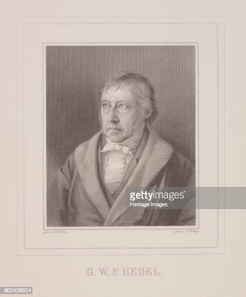 Portrait of Georg Wilhelm Friedrich Hegel End 1820s Private Collection