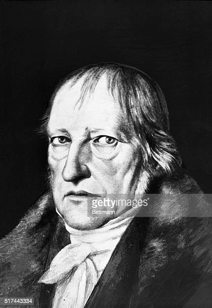 Portrait of Georg Wilhelm Friedrich Hegel German philosopher in a fur coat A painting by Schlesinger Undated illustration