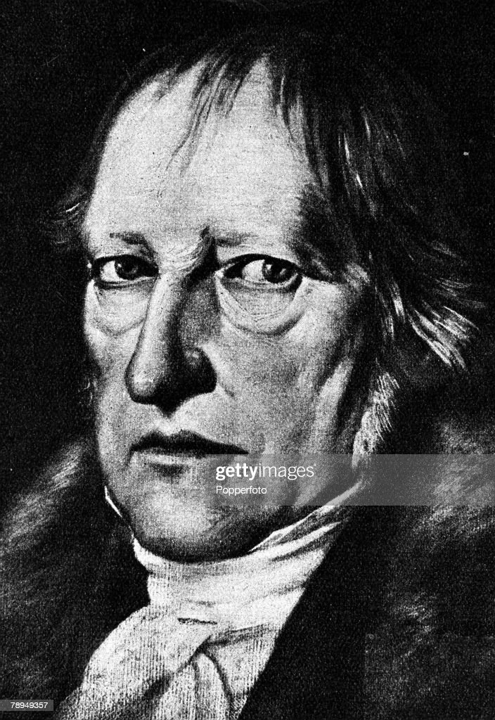 A portrait of Georg Wilhelm Friedrich Hegel (1770-1831), the German philosopher. : News Photo