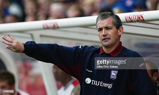 Portrait of George Burley Ipswich Coach during the Nationwide League Divison One match between Stoke City and Ipswich Town at the Britannia Stadium...