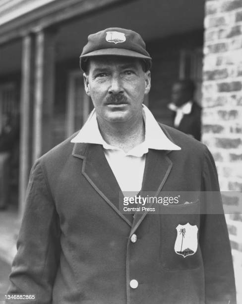 Portrait of George Challenor from Barbados, right-arm medium pace bowler and right-handed batsman for the touring West Indies Cricket Team circa June...
