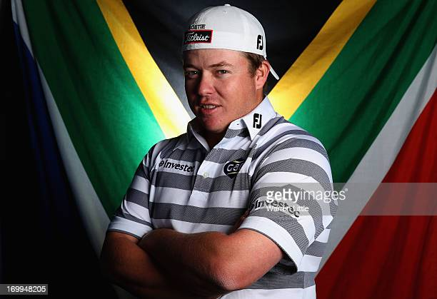 A portrait of George Coetzee of South Africa ahead of the BMW PGA Championship at Wentworth on May 21 2013 in Virginia Water England