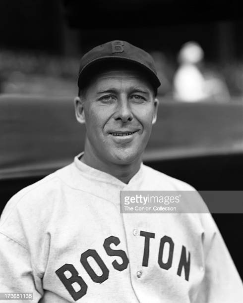 A portrait of George E Walberg of the Boston Red Sox in 1935