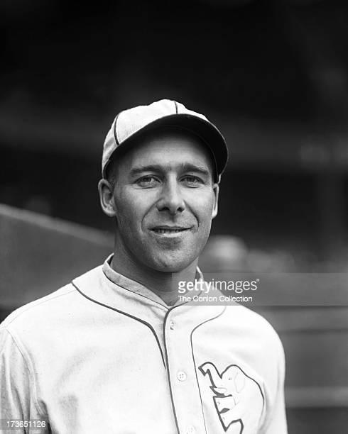 A portrait of George E Walberg of the Philadelphia Athletics in 1925