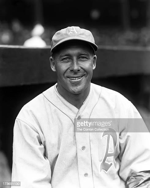 A portrait of George E Walberg of the Philadelphia Athletics in 1933