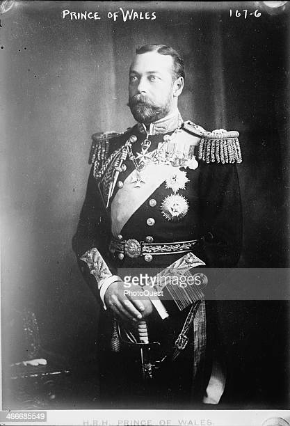 Portrait of George Prince of Wales mid to late 1900s At the time this photo he was the second son of King Edward the VII of England and later became...