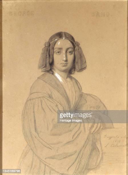 Portrait of George Sand, 1837. Found in the Collection of the Musée de la Vie romantique, Paris. Artist Calamatta, Luigi .