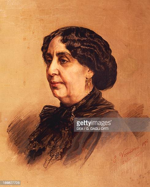 Portrait of George Sand pseudonym of AmantineLucileAurore Dupin French writer Painted in 1876 by Vieusseux La Chatre Musée George Sand Et De La...