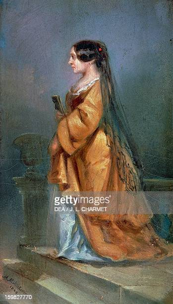 Portrait of George Sand pseudonym of AmantineLucileAurore Dupin French writer Painted in 1849 by Theopile Kwiatkowski Paris Bibliothèque Polonaise De...
