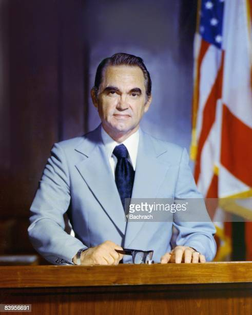 Portrait of George Wallace governor of Alabama and a candidate for president on several occasions He is best known for his prosegregation stance...