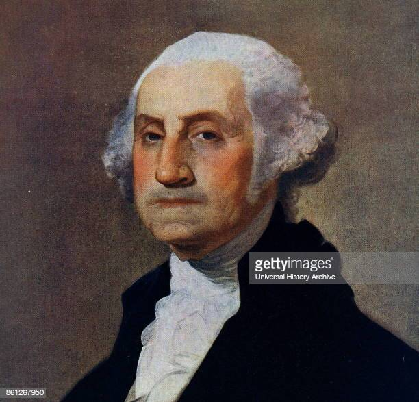 Portrait of George Washington an American politician soldier and the first President of the United States of America Painted by Gilbert Stuart an...