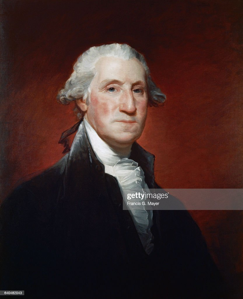 Portrait of George Washington by Gilbert Stuart : News Photo