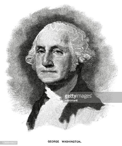 portrait of george washington, first president of the united states from 1789 to 1797 - us president stock pictures, royalty-free photos & images