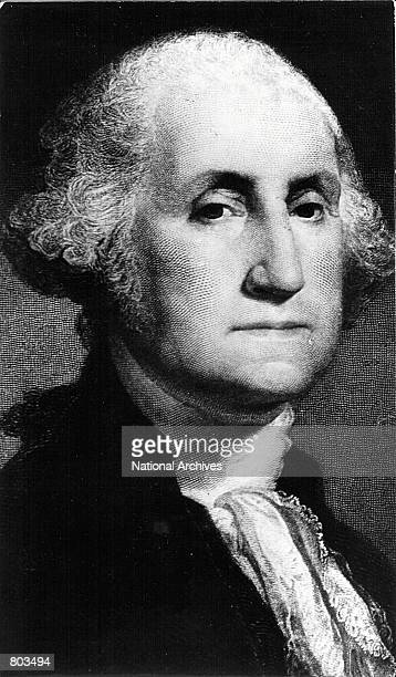 Portrait of George Washington, first President of the United States who served from 1789 to 1797.