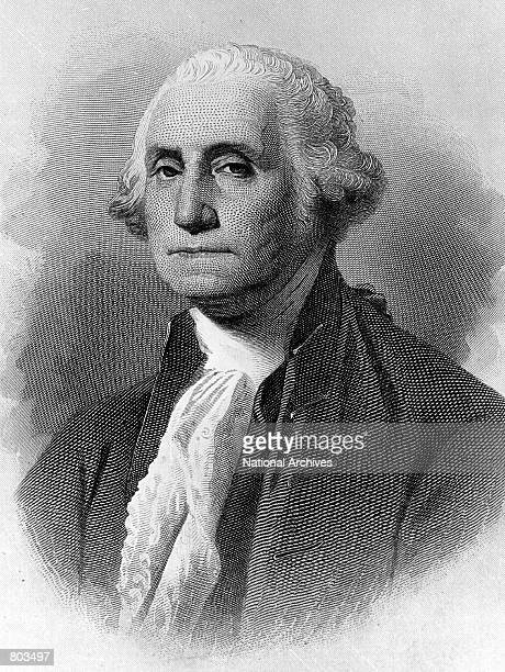 A portrait of George Washington first President of the United States serving from 1789 to 1797