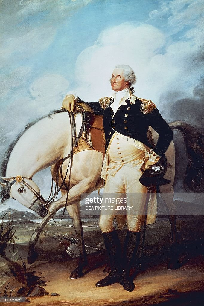 Portrait of George Washington... : News Photo