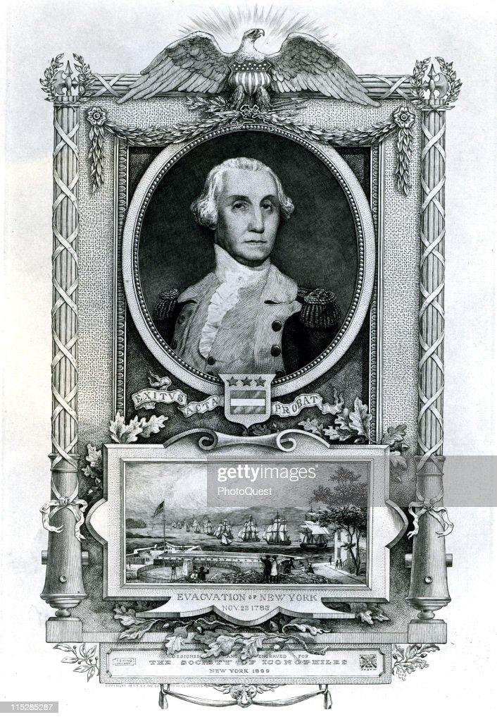 Portrait Of George Washington : News Photo