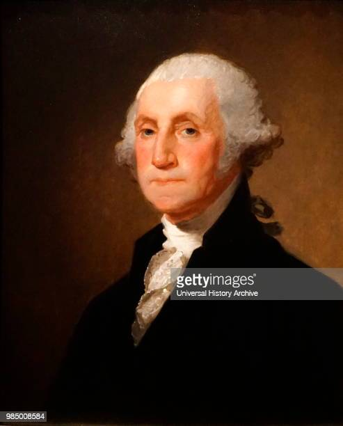 Portrait of George Washington the 1st President of the United States of America Painted by Gilbert Stuart an American painter Dated 19th Century