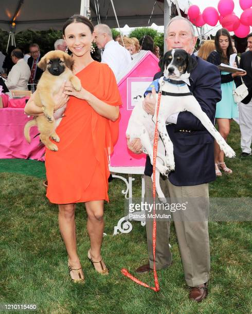 Portrait of Georgina Bloomberg and her father New York City Mayor Michael Bloomberg as they attend the Southampton Animal Shelter's 5th annual...