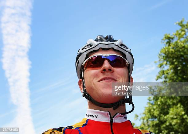 Portrait of Geraint Thomas of Great Britain and the Barloworld team prior to the start of Stage One of the Tour de France between London and...