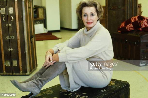 Portrait of German actress and author Lilli Palmer New York New York 1981