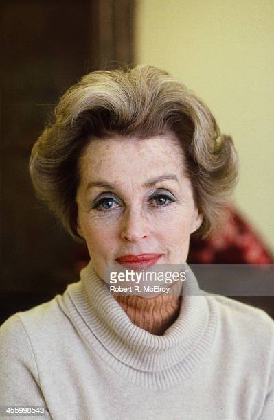 Portrait of German actress and author Lilli Palmer , New York, New York, 1981.