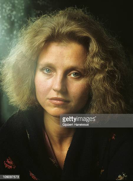 A portrait of German actress and singer Hanna Schygulla in Munich Germany 1977