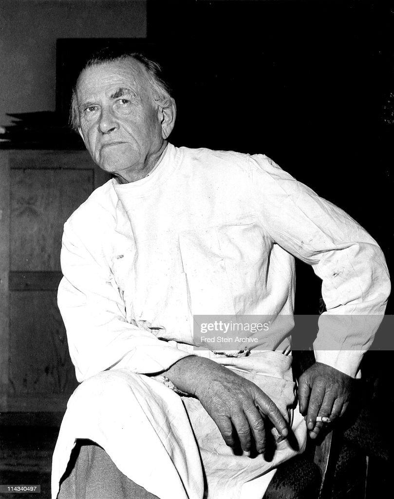 Portrait of German artist and printmaker Otto Dix (1891 - 1969), 1961.
