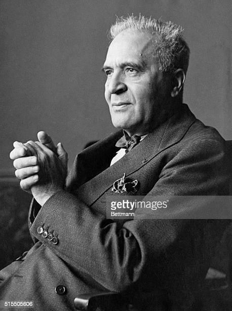 Portrait of German conductor Dr Bruno Walter