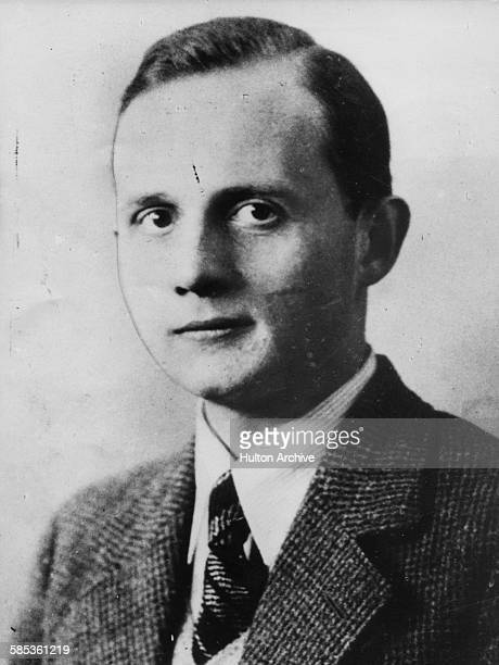 Portrait of German diplomat Ernst vom Rath printed following his assassination by a Polish Jew November 1938