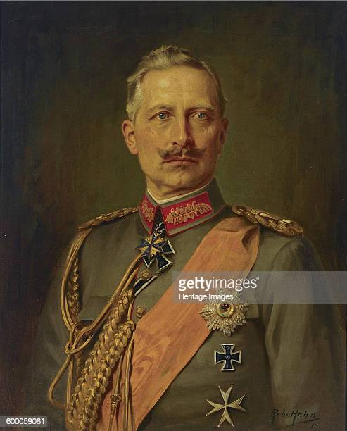 Portrait of German Emperor Wilhelm II King of Prussia 1911 Private Collection Artist Hahn Robert