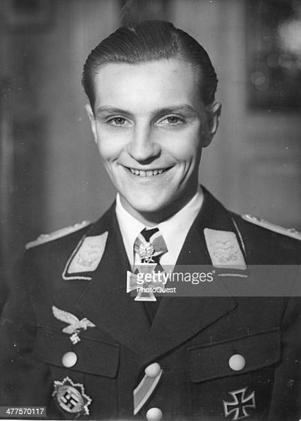 Portrait of German fighter ace HansJoachim Marseille late 1930s or early 1940s He fought primarily in the North Africa campaign as was killed in...