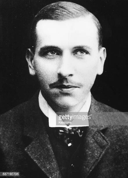 Portrait of German geophysicist Alfred Wegener circa 1900