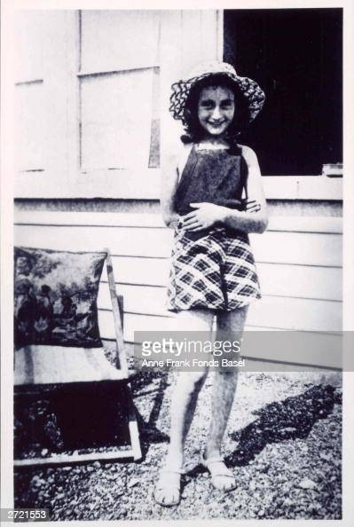 Portrait Of German Jewish Diarist Anne Frank Smiling