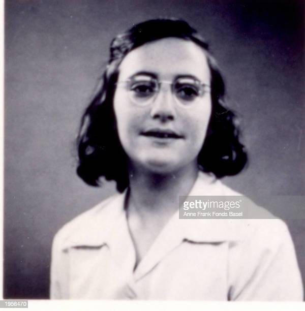 Portrait of German Jewish refugee Margot Frank sister of Anne Frank May 1939