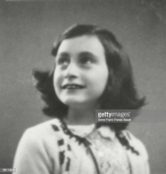 Portrait of German Jewish victim of the Holocaust Anne Frank circa 1930s