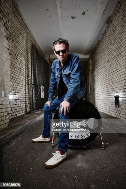 Portrait of German musician and DJ Marco Haas better known by his recording name TRaumschmiere photographed at his Berlin studio on April 13 2017