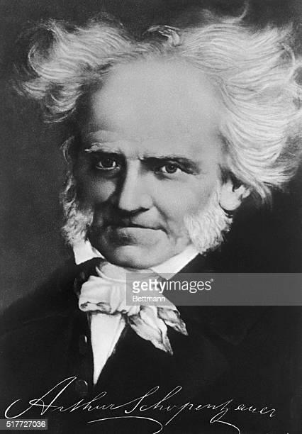 Portrait of German philosopher Arthur Schopenhauer expounder of pessimism Head and shoulders painting