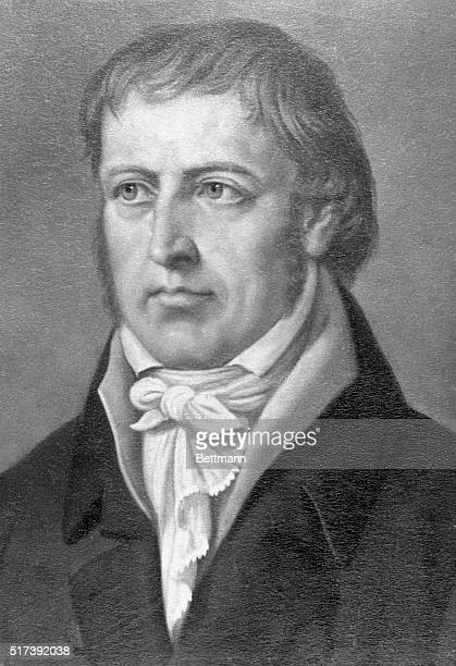 Portrait of German philosopher George Wilhelm Friederich Hegel Undated illustration
